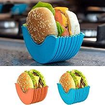 4 Pcs Burger Buddy Burger Fixed Box BPA-Free /& Dishwasher Safe Hygienic Reusable Hamburger Box Silicone Rack Holder Burger Box Burger Holder Reusable Mess Adjustable Hamburger Buns Burger Holder