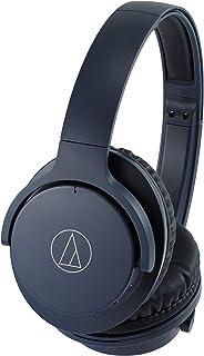 Audio-Technica ATH-ANC500BT QuietPoint Wireless Active Noise Cancellation Bluetooth Over-Ear Headphones, Navy