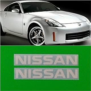 R&G NISSAN & 350Z High Temp Brake Caliper Decal Sticker Set of 2 (White)