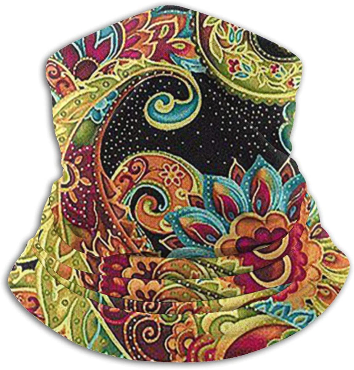 Positively Paisley Black Multi-function Neck Warmer Gaiter Polyester Neck Warmer Windproof Winter Neck Gaiter Cold Weather Scarf For Men Women