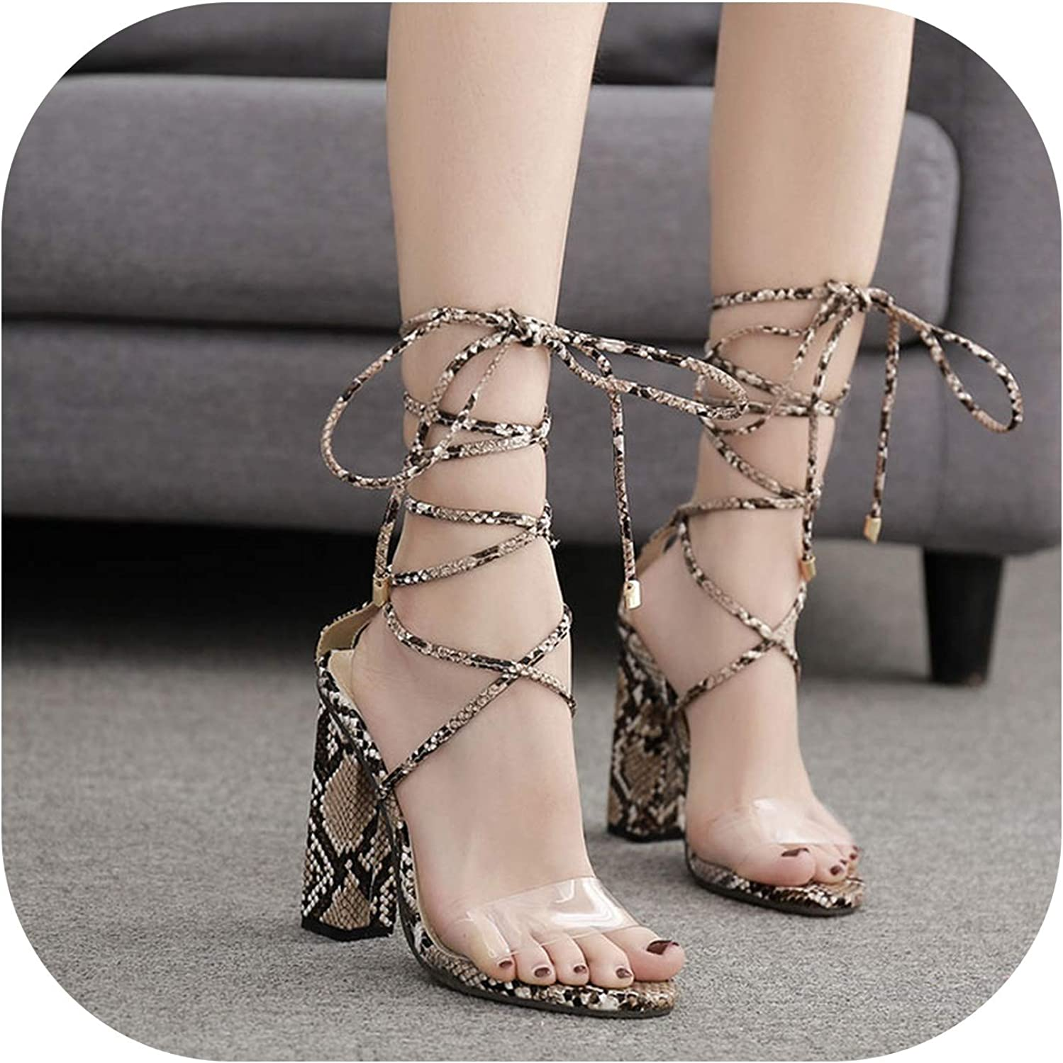 Shine-shine Lace-Up Block High Heels Cover Heel Shallow Mature Seentine Dance shoes Size 35-40