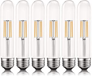Luxrite Vintage T9 LED Tube Light Bulbs 60W Equivalent, 2700K Warm White, 550 Lumens, Dimmable Edison Tubular Light Bulbs 5W, Clear Glass, LED Filament Bulb, UL Listed, E26 Standard Base (6 Pack)