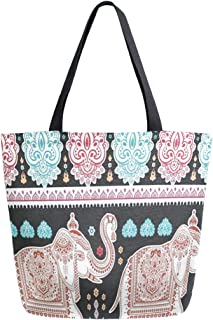 INTERESTPRINT Botanical Pink Lotus Flowers Travel Duffel Bag Water-Proof Bag