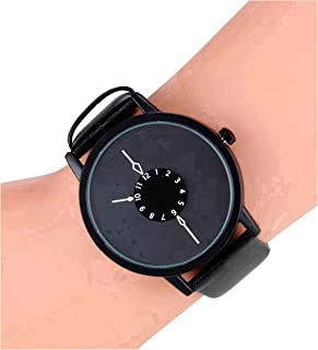Harbour Analog Duplex Dial Black Belt Leather Women Watches & Girls Watch - Buu