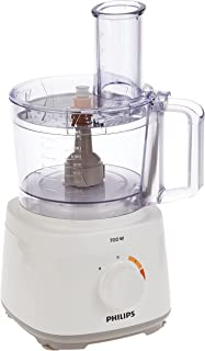 Philips Daily Collection Compact Food Processor, HR7320/01, 2in1 metal discs, Plastic, 1.5 L bowl + 1 L blender, Kneading ...