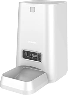 Dogness 6L Pet Feeder,Automatic Cat Feeder | Timed Programmable Auto Pet Dog Food Dispenser Feeder for Kitten Puppy - Portion Control Up to 4 Meals/Day,Voice Recording,Battery and Plug-in Power