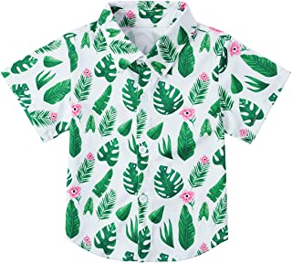 Little /& Big Boys Button Down Shirts Hawaiian Aloha Short Sleeve Party Camp Holiday Casual Novelty Dress Shirt Size 2-14T