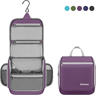 Gonex Hanging Toiletry Bag Travel Organizer Purple