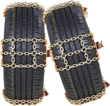 2021 Upgraded Universal Tire Chains,Anti-Skid Chains,Snow Chains for SUV,Truck,RV of Tire Width 215-315 mm (8.5-12.4 inch),Heavy Duty,Thickened,Adjustable,Durable (6 Pack): image