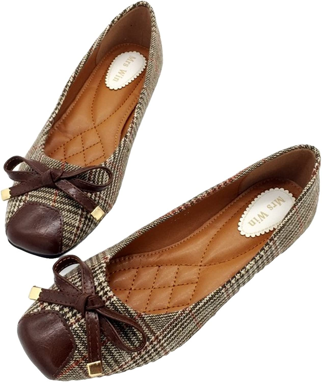 Owen Moll Women Flats, Black Brown Mixed colors Ballet Slip-On Shallow Work Single shoes
