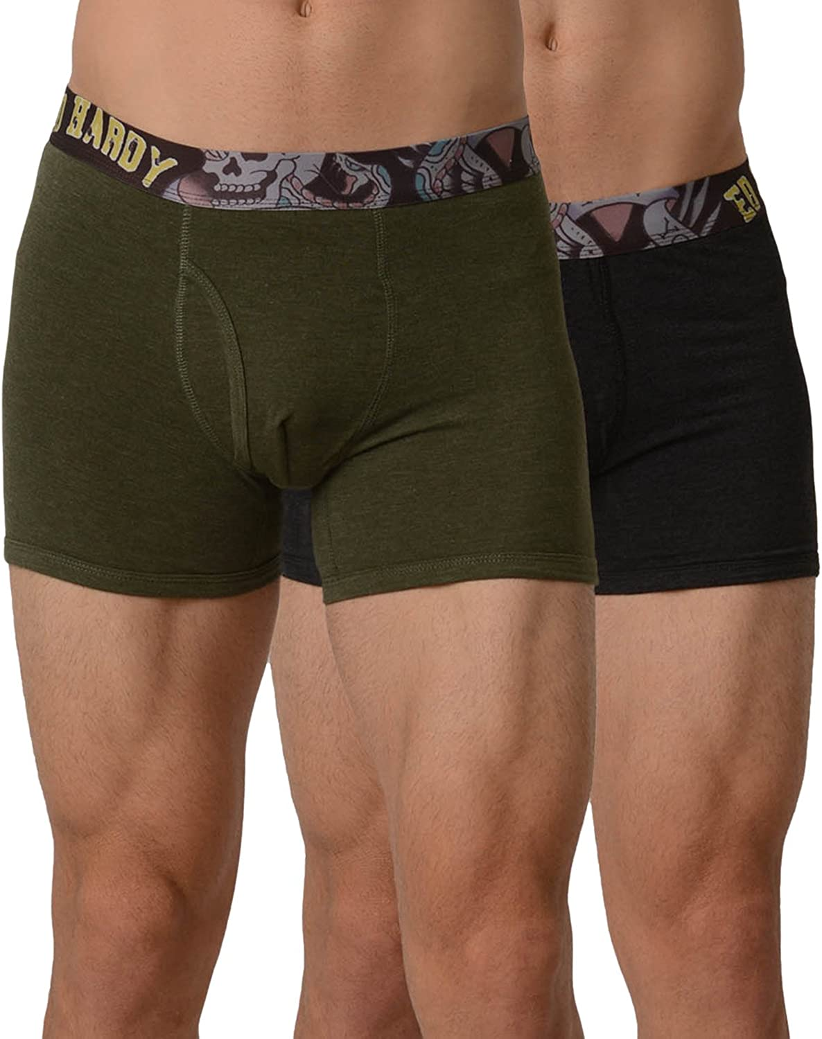 Ed Hardy Men's Boxer Brief 2 Pack-NYC