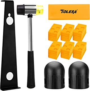 TOLESA Laminate Wood Flooring Installation Kit with 30 Spacers, Heavy Duty Pull Bar, Durable Rubber Tapping Block, Double-...