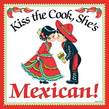 Essence of Europe Gifts E.H.G Kiss The Cook, She's Mexican Decorative Wall Tile Mexican Gift Idea