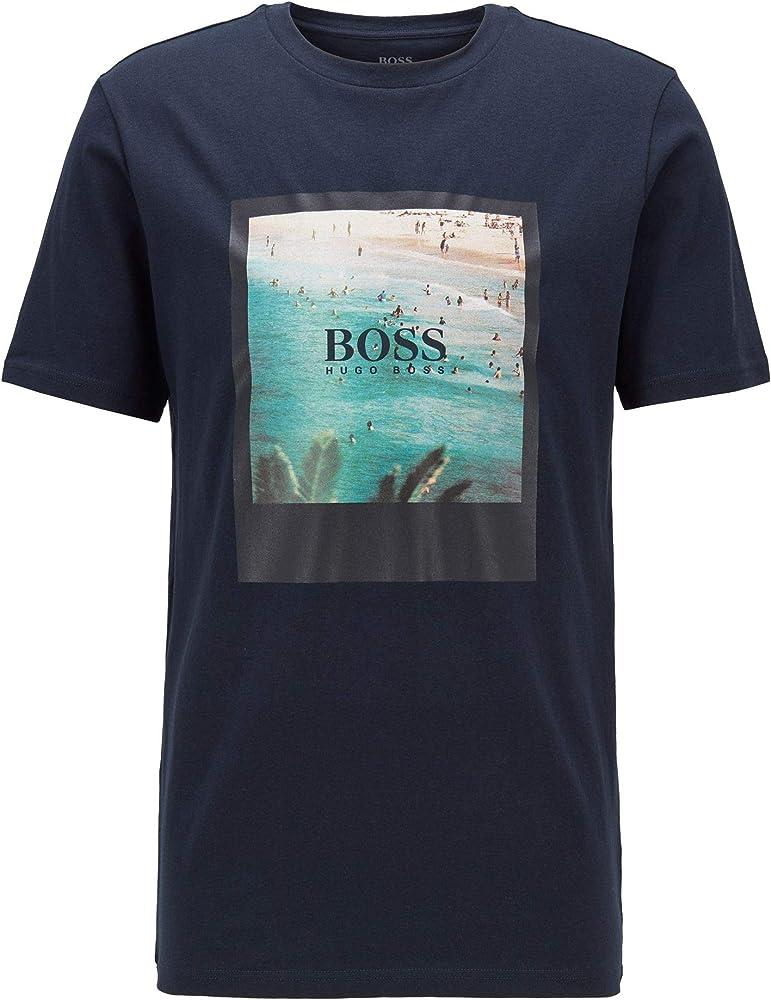 Boss t-shirt,maqglietta per  uomo,100% cotone 50432988