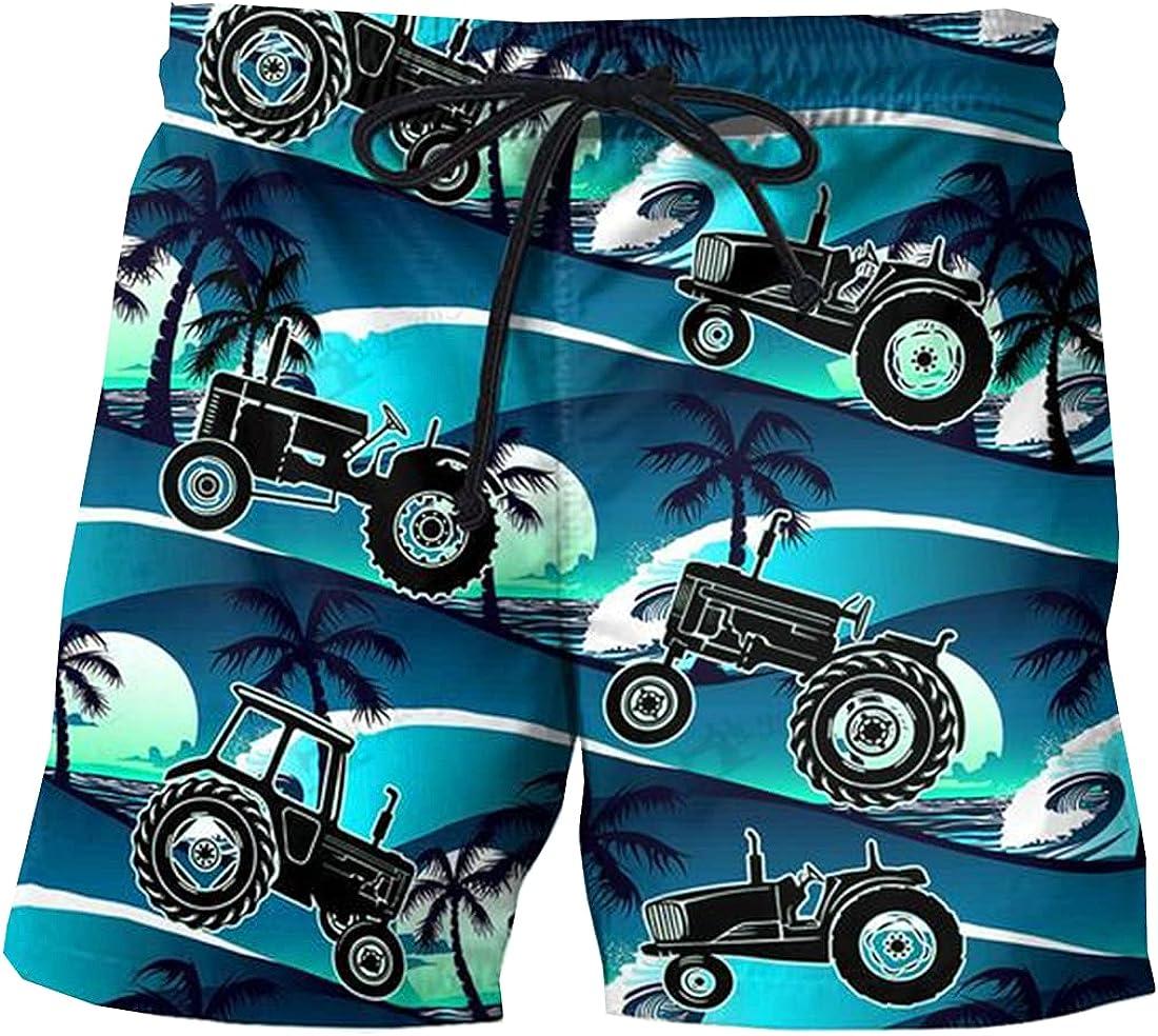 Sunset Mens Swim Trunks - Tropical Swimming Trunks for Men - Drawstring Beach Shorts, Mens Swim Shorts Set 117