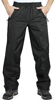 33,000ft Men's Rain Pants, Lightweight Waterproof Rain Over Pants, Windproof Outdoor Pants for Hiking, Fishing