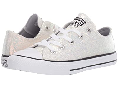 Converse Kids Chuck Taylor(r) All Star(r) Gloss Ox (Little Kid/Big Kid) (Wolf Grey/Black/White) Girls Shoes