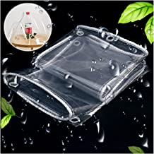PENGFEI transparant dekzeil Heavy Duty, PVC zacht glas regendicht luifel, zacht gemakkelijk te vouwen scheurweerstand Tarp...