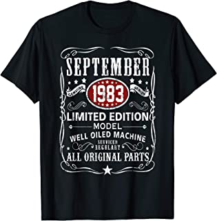 Legends Were Born In September 1983 T-Shirt 36th Bay Gifts T-Shirt
