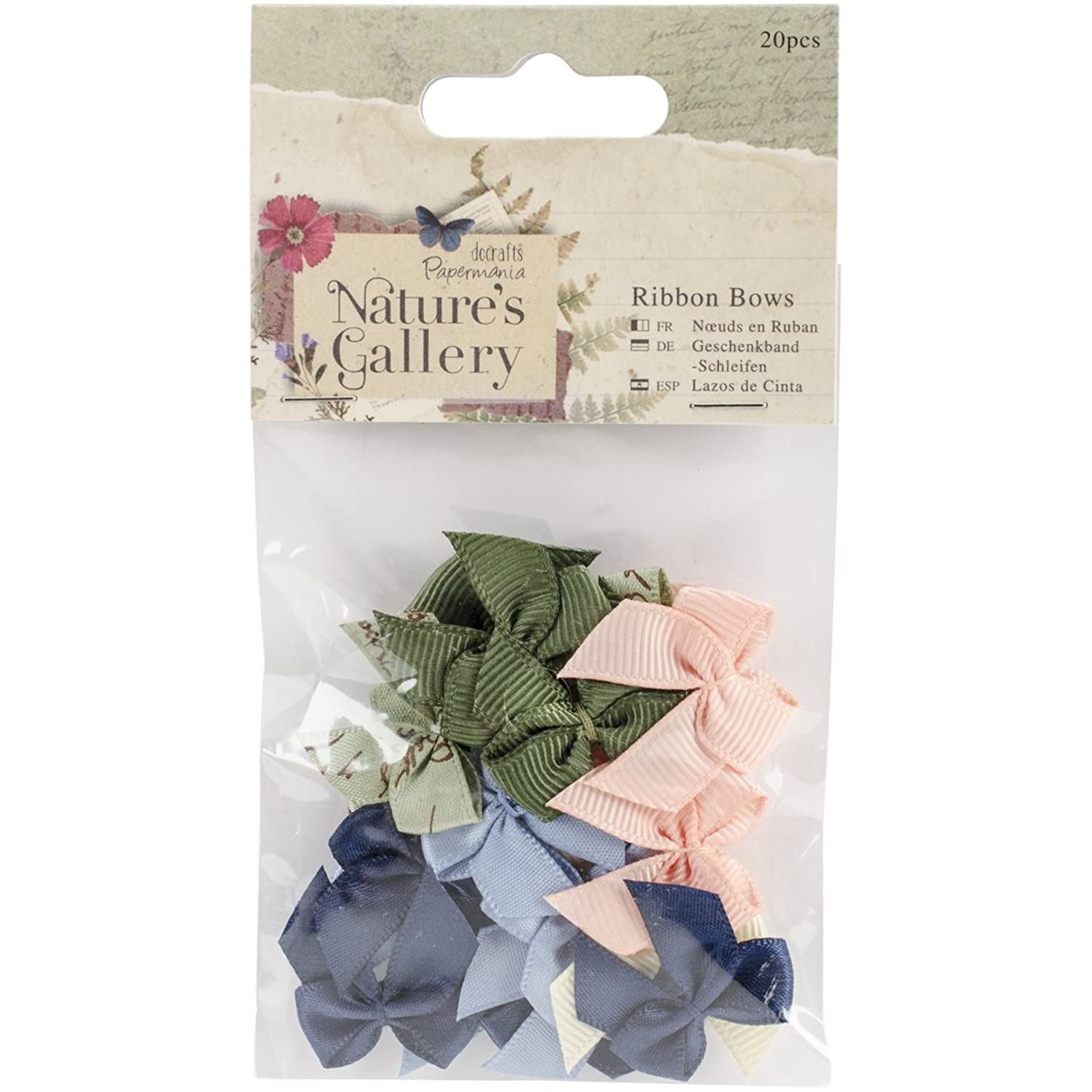 DOCrafts Papermania Nature's Gallery Ribbon Bows (20 Pack)