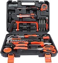 Funien Conjunto de ferramentas de hardware 45pcs Caixa de ferramentas doméstica Ferramentas de reparo doméstico Conjunto d...