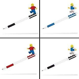 LEGO Pen Pal Gel Pen and Mechanical Pencil Assortment - 4 Count