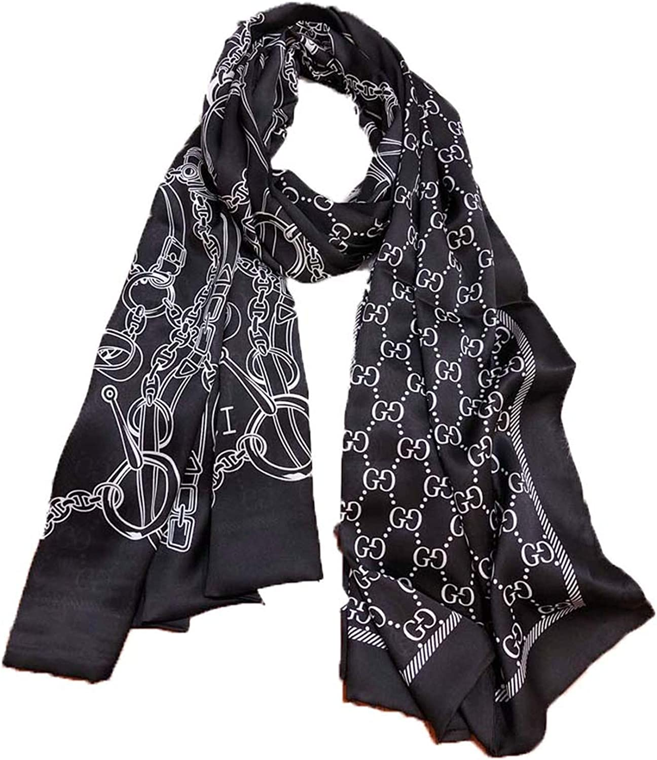 Fashion luxury silk scarves are suitable for women and men in four seasons. Luxury gifts are comfortable to wear anywhere (Z31)