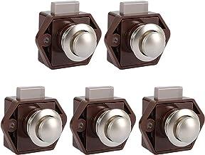 5 stuks push button catch deurvergrendeling deurslot keyless kast slot met drukknopsluiting kastknop slot voor kast, campe...