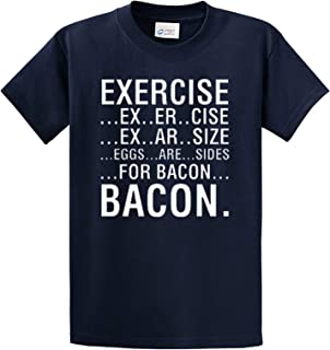 Exercise Eggs Are Sides For Bacon T-Shirt-Navy-Xxl