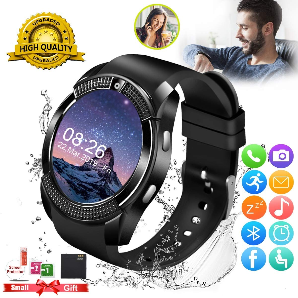 Smartwatch Android Touchscreen Bluetooth Compatible