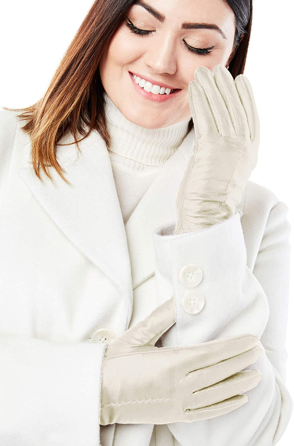 Jessica London Women's Plus Size Leather Gloves