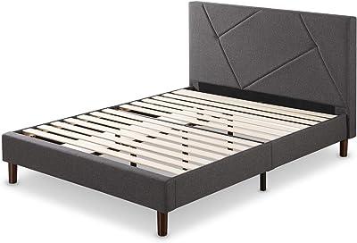 ZINUS Judy Upholstered Platform Bed Frame / Mattress Foundation / Wood Slat Support / No Box Spring Needed / Easy Assembly, Full