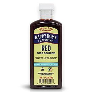 Happy Home Flavoring Red Food Color, 7 oz.