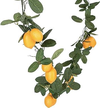 Fun Express Artificial Lemon Garland (6 feet Long) Wedding and Home Decor