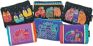 Laurel Burch Cosmetic Bag Zipper Top, Assorted Feline Prints