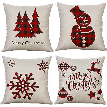 Pillow 16x16 Christmas Patchwork Pillow