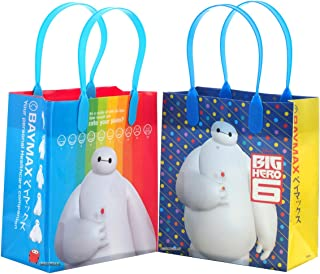Disney Big Hero 6 Baymax Premium Quality Party Favor Reusable Goodie Small Gift Bags 12 (12 Bags)