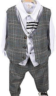 (チェリーレッド)CherryRed 男の子 ベスト ズボン スーツ 2点セット