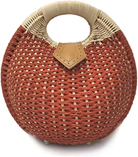 Sponsored Ad - Top Handle Round Wicker Bag