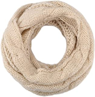 Womens Knit Infinity Scarf Circle Loop Warm Fashion Thick Ribbed Scarf