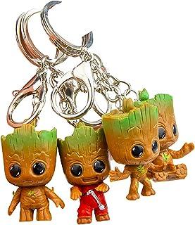 Baby Groot Porte-clés - Figurine d'action du Film Classique - Parfait comme Cadeau - Je suis Groot (Style009)