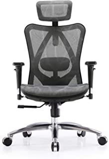 SIHOO Chaise de Bureau, Siege de Bureau Ergonomique, Dossier Haut Respirant avec Doux pour la Peau en Maille Chaise Réglab...