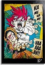 Son Goku from Dragon Ball by Akira Toriyama - Pop-Art Original Framed Fine Art Painting, Image on Canvas, Artwork, Movie Poster, Anime, Manga