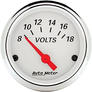 Auto Meter 1391 Arctic White Voltmeter Gauge