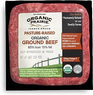 Organic Prairie Pasture Raised 85% Lean Organic Ground Beef, 1 lb