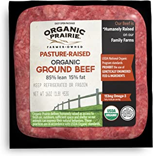 Organic Prairie, Organic Pasture-Raised 85% Lean Ground Beef, 1 Pound