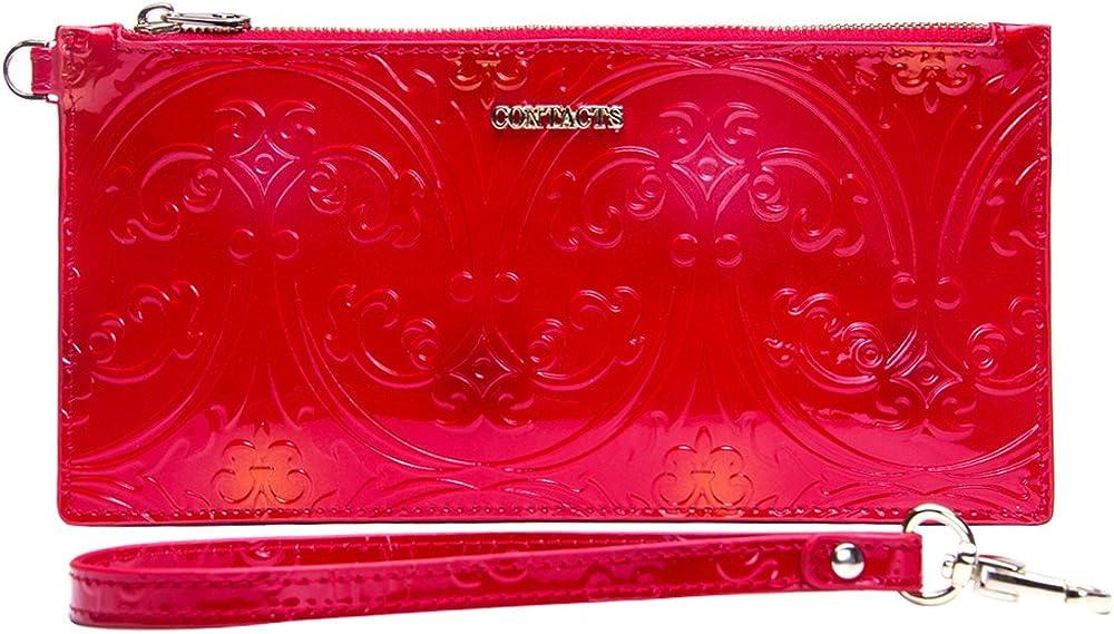 Contacts , portafogli, porta carte di credito, 1 tasca grande per iphone 7 plus, in pelle