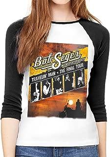 Bob The Final Seger Tour 2018 2019 84 Womens 3/4 Sleeve Crew Neck Top T-Shirt