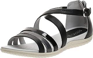 GEOX Sand.Vega, Women's Fashion Sandals, Black (Black/Dark Grey), 41 EU