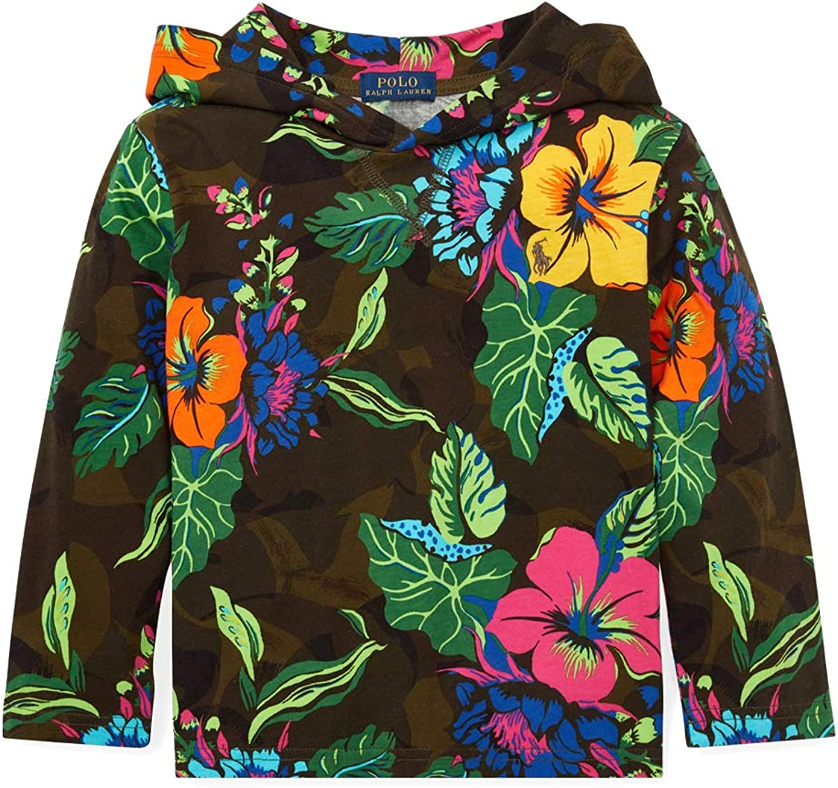 Ralph Lauren Polo Boys Floral Pocket Hoodie Pullover 5